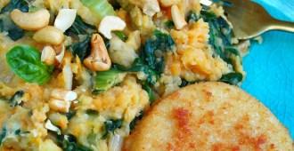 paksoi spinazie stamppot met vegan kaesschnitzel 1