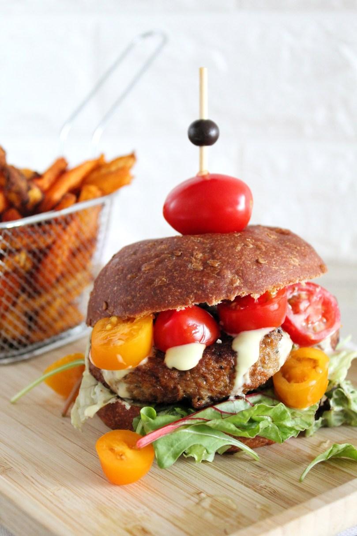 koolhydraatarme burger vega
