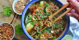 snelle Pad Thai noodlesoup