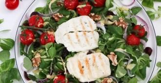 zomerse Halloumi salade van Marisa