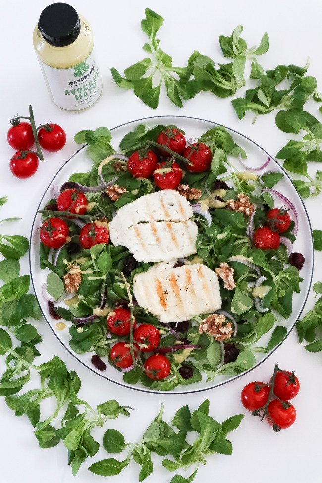 zomerse Halloumi salade van Marisa.