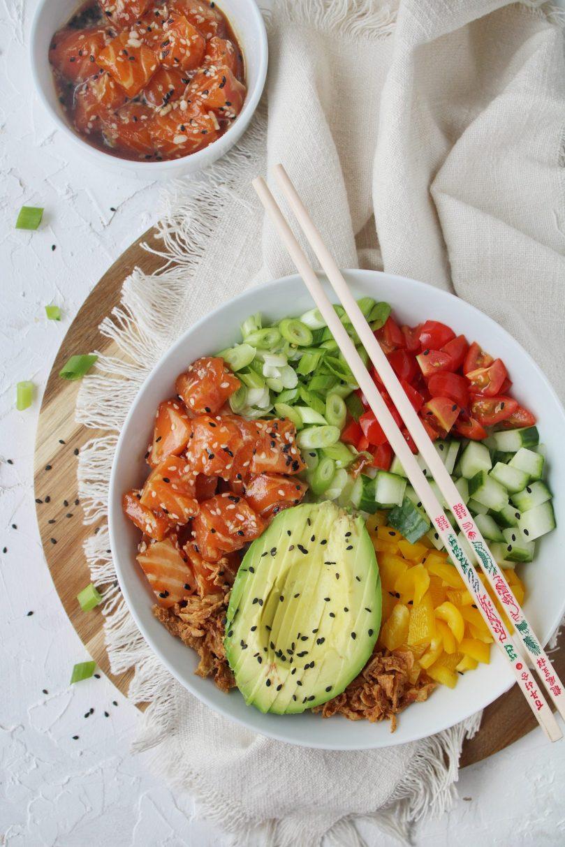 poké bowl met zalm van Shana