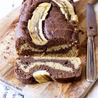Vegan Chocolate Marble Banana Bread