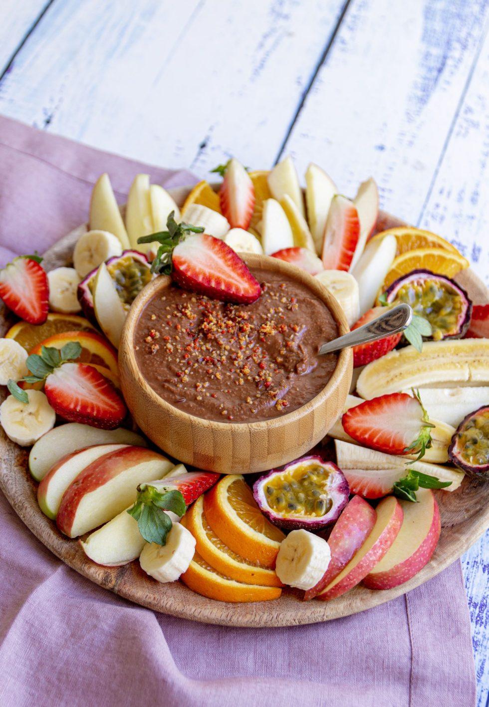 healthy vegan chickpea dip by a vegan nutritionist