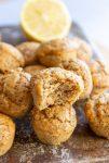 mini vegan lemon muffins