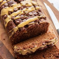 Vegan Chocolate Peanut Butter Banana Bread