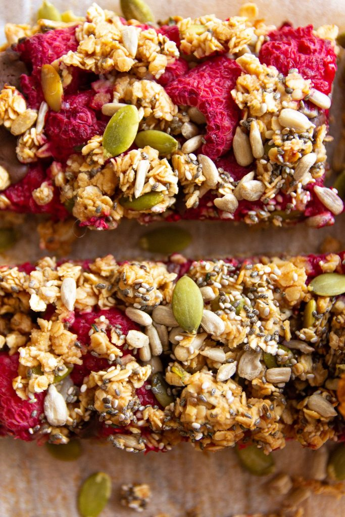 healthy breakfast oat crumble bars