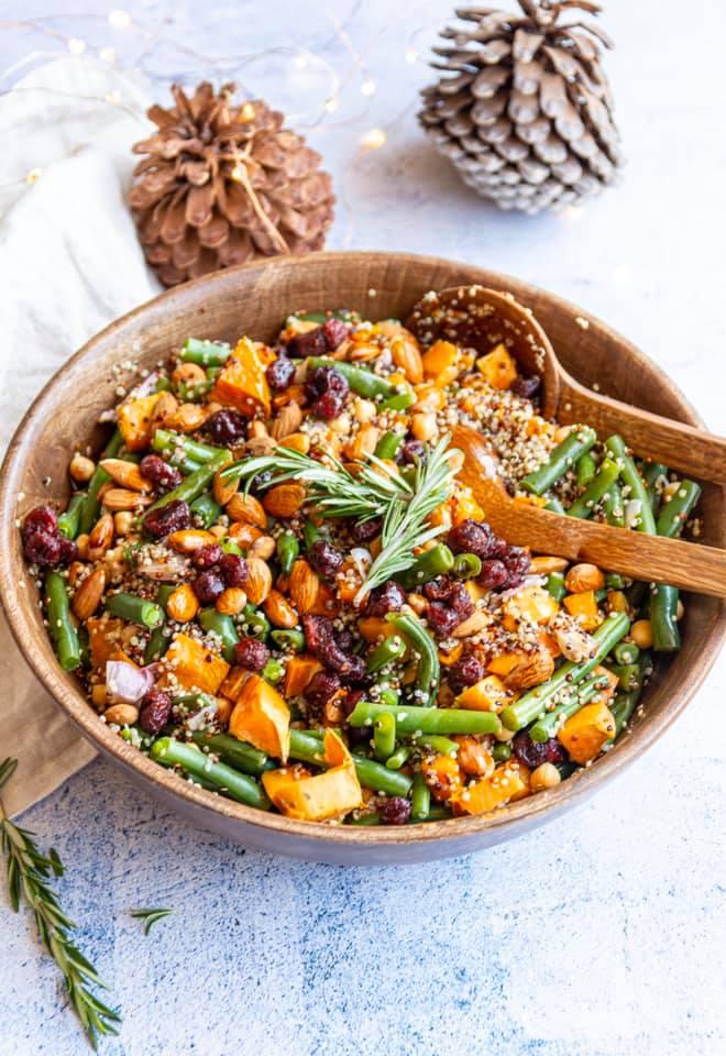 healthy vegan christmas salad