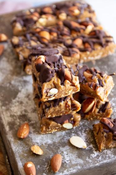 raw vegan snickers bar