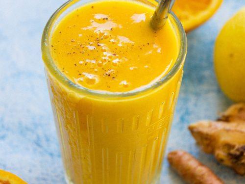 golden orange turmeric smoothie