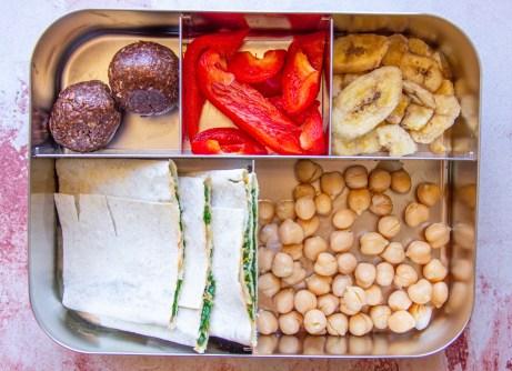 vegan lunchbox idea: wrap