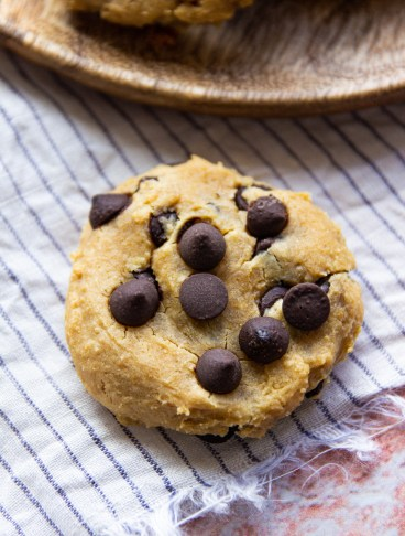 healthy chickpea peanut butter cookie