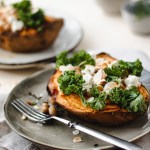 Sweet potatoes with chickpea, kale and almonds | Healthy Goodies by Lucia