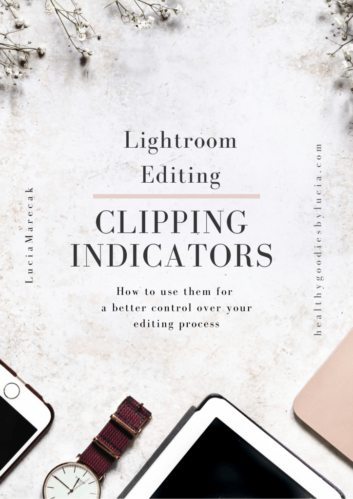 Clipping indicators | Lightroom Editing Food photography Healthy Goodies by Lucia Marecak