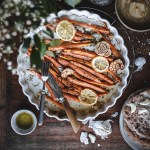 Roasted Garlic Carrots with Lentil Cream and Naan Bread | Healthy Goodies by Lucia Marecak