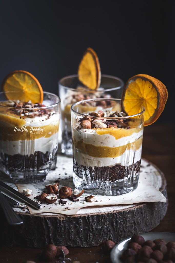 Orange, Chocolate & Hazelnuts Mini Cheesecakes |Healthy Goodies by Lucia Marecak