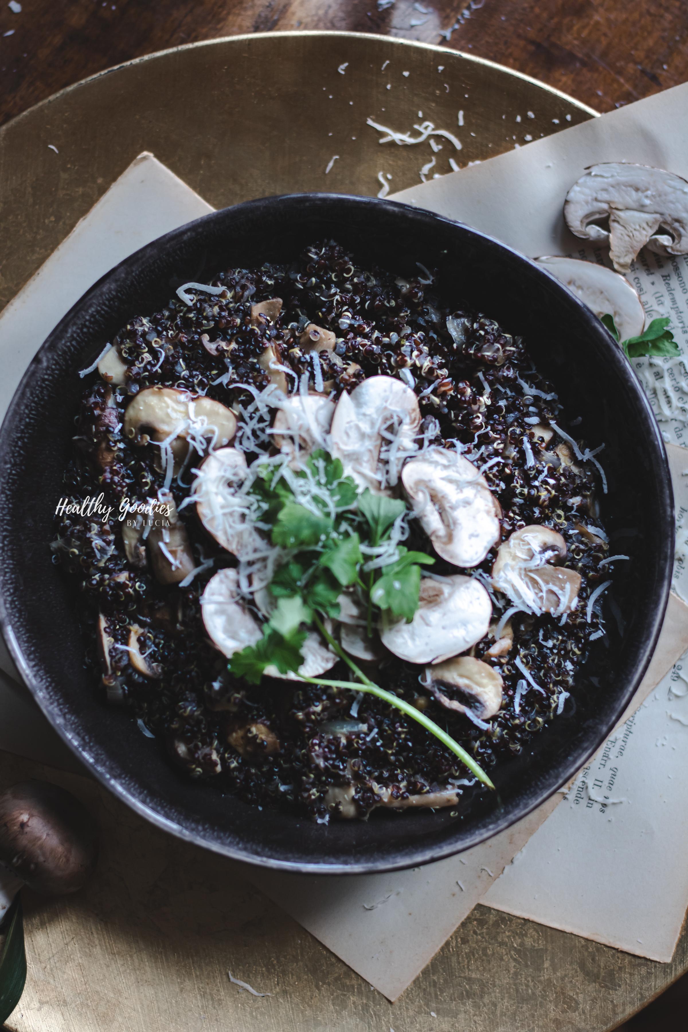 Mushroom Quinoa Risotto | Healthy Goodies by Lucia