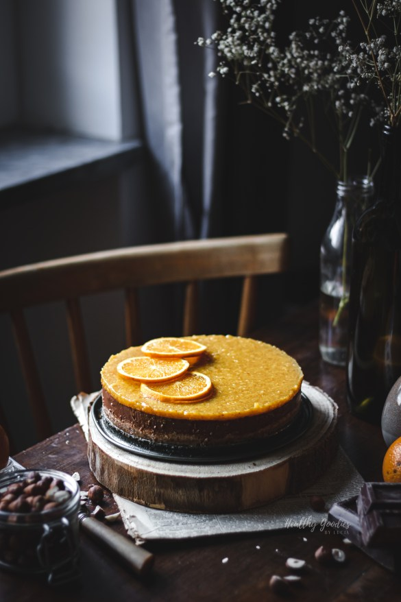 Chocolate orange tart | Healthy Goodies by Lucia Marecak