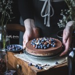 Vegan Chocolate tart with blueberries | Healthy Goodies by Lucia Marecak