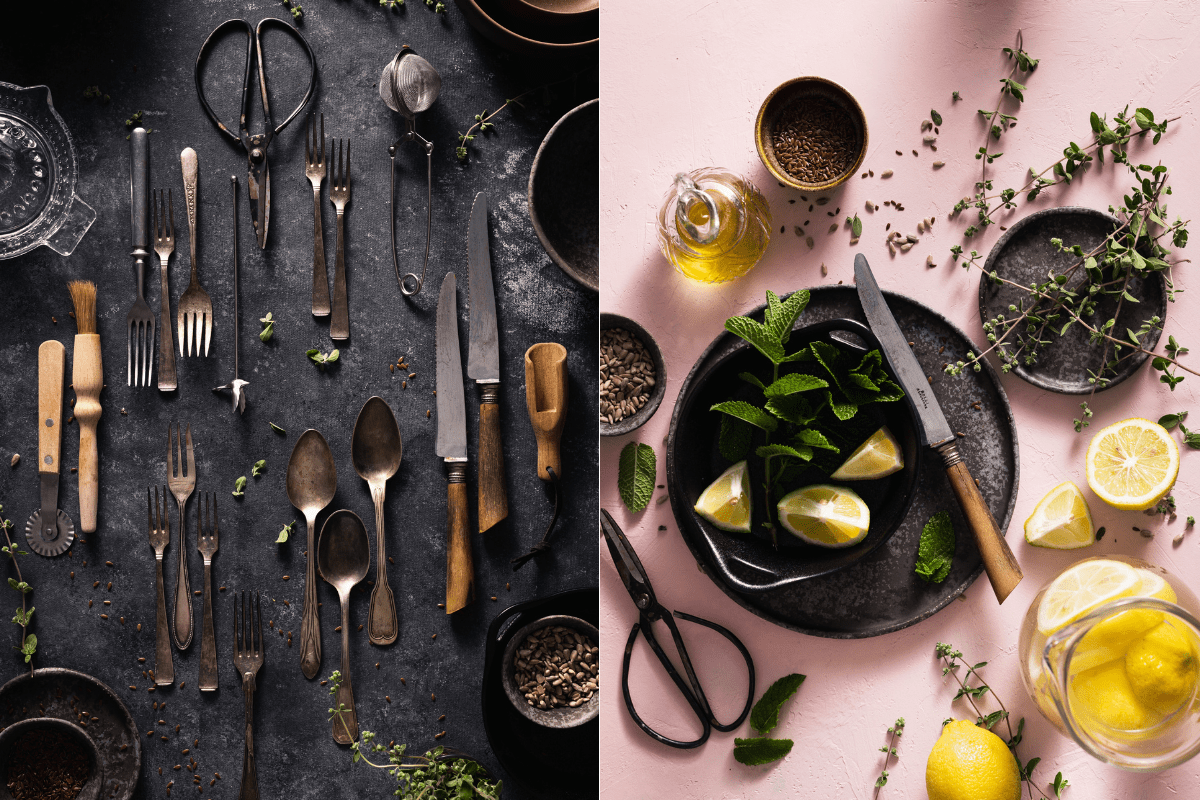 8 steps to build a food photography prop collection