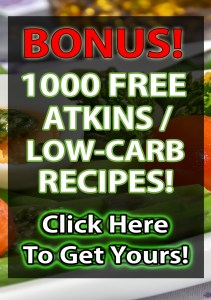 1000 FREE ATKINS LOW-CARB RECIPES