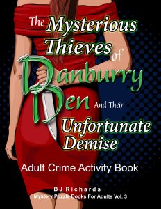 adult crime activity book