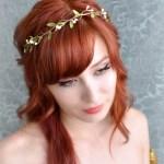 Wedding headband, simple leaf and berry tiara, bridal crown, wedding hair accessories