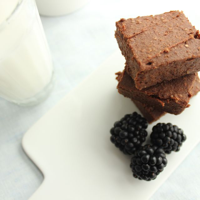 Sweetpotato brownies after the recipe of deliciouslyella - vegan and glutenfree