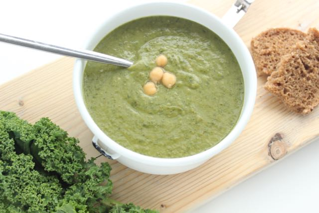 creamy kale soup - vegan and gluten free - www.healthyhappysteffi.com
