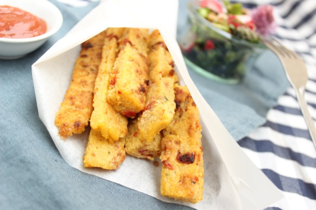 Polenta sticks - glutenfrei, vegan, easy-peasy - www.healthyhappysteffi.com