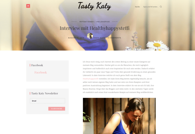 Interview auf TastyKaty.com