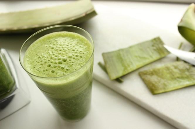 Grüner Smoothie mit Aloe Vera