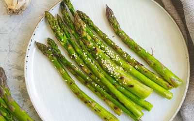 Asparagus with Toasted Seeds and Mustard Vinaigrette