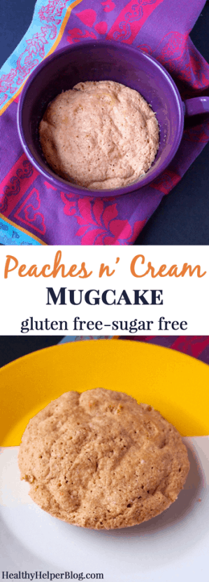 Peaches n' Cream Mugcake