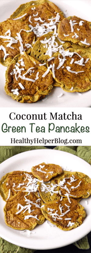 Coconut Matcha Green Tea Pancakes