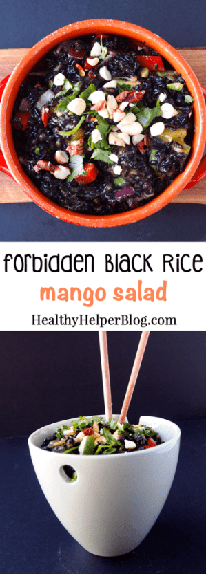 Forbidden Black Rice Mango Salad