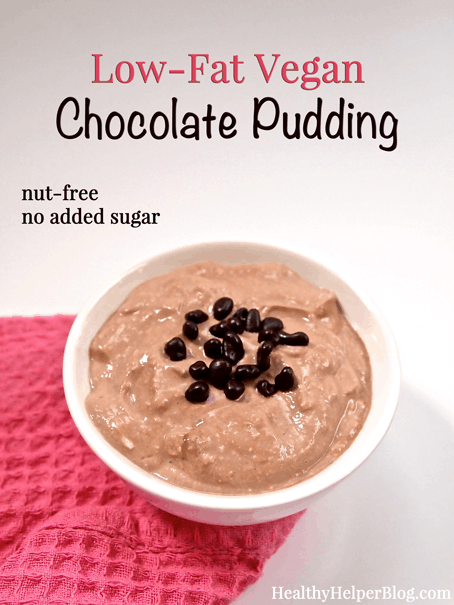 Low-Fat Vegan Chocolate Pudding