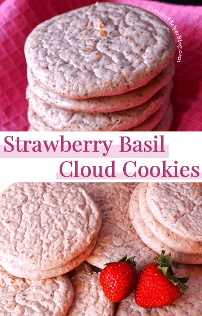 Strawberry Basil Cloud Cookies