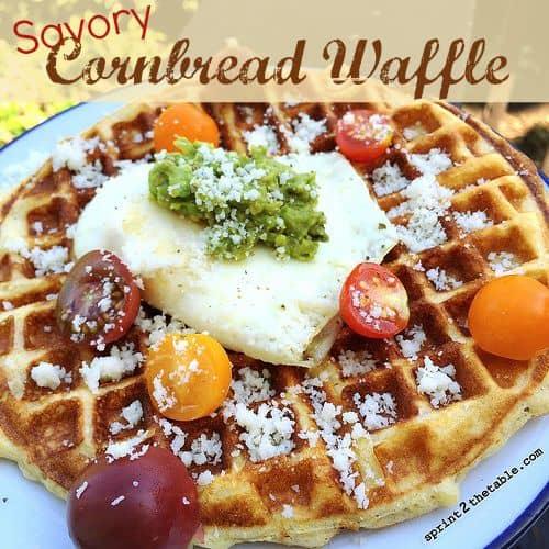 Savory-Cornbread-Waffle