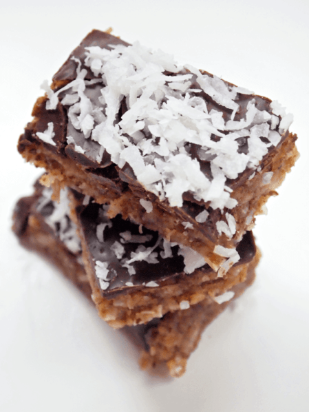 Double Chocolate Coconut Fudge Bars