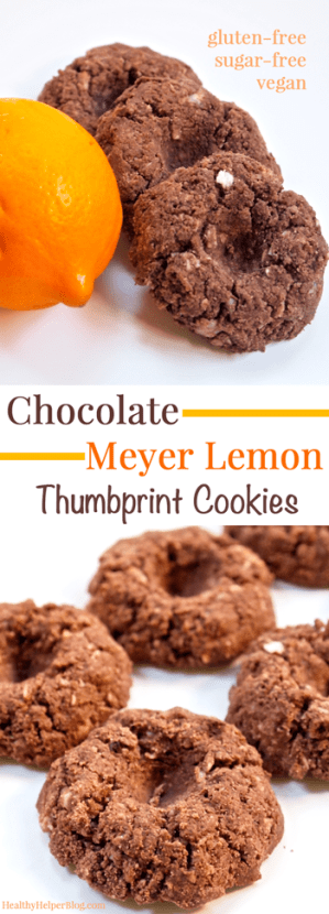 Chocolate Meyer Lemon Thumbprint Cookies from <a href=