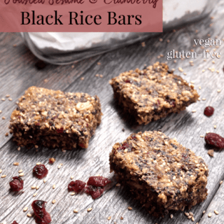 Toasted Sesame &amp; Cranberry Black Rice Bars from <a href=