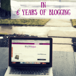 6 Things I've Learned in 6 Years of Blogging [Blogiversary GIVEAWAY!]