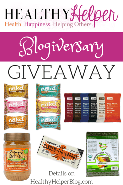 Healthy Helper Blogiversary Giveaway...7 winners, amazing prizes!