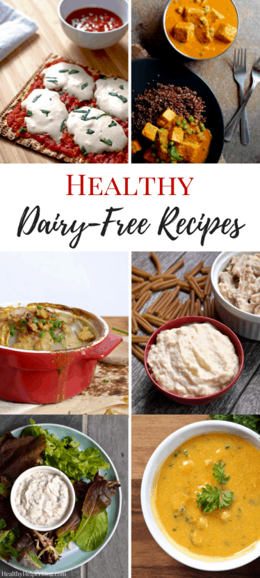 11 Healthy Dairy-Free Recipes | Healthy Helper @Healthy_Helper The ultimate collection of non-dairy versions of traditionally dairy-filled dishes! Healthy, lower-fat alternatives to lactose-laden comfort foods and classic recipes that rely on dairy for their taste. You'll never know the difference between these delicious, (mostly) vegan recipes and the originals!