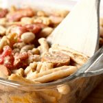 Vegan Pork n' Bean Mac and Cheese [gluten-free + nut-free]