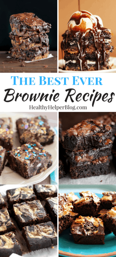 The BEST EVER Brownie Recipes | Healthy Helper @Healthy_Helper A roundup of the best of the best brownie recipes from your favorite food bloggers! Some healthy, some indulgent, ALL full of ooey-gooey chocolate goodness.