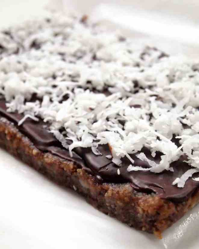 Double Chocolate Coconut Fudge Bars | Healthy Helper @Healthy_Helper
