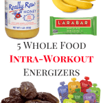5 Whole Food Intra-Workout Energizers | Healthy Helper @Healthy_Helper Forget GUs, gels, and other processed fuel options! Whole, real foods are your best bet for keeping up your stamina during a tough endurance workout or long distance event. These whole food selections are easy to consume during your workout, provide great nutrition, and are all natural!