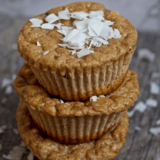 Coconut Gingerbread Protein Muffins | Healthy Helper @Healthy_Helper Soft and fluffy gingerbread muffins with the sweet flavor of coconut! Gluten-free, high protein, and no added sugar...these muffins are perfect for enjoying year round.